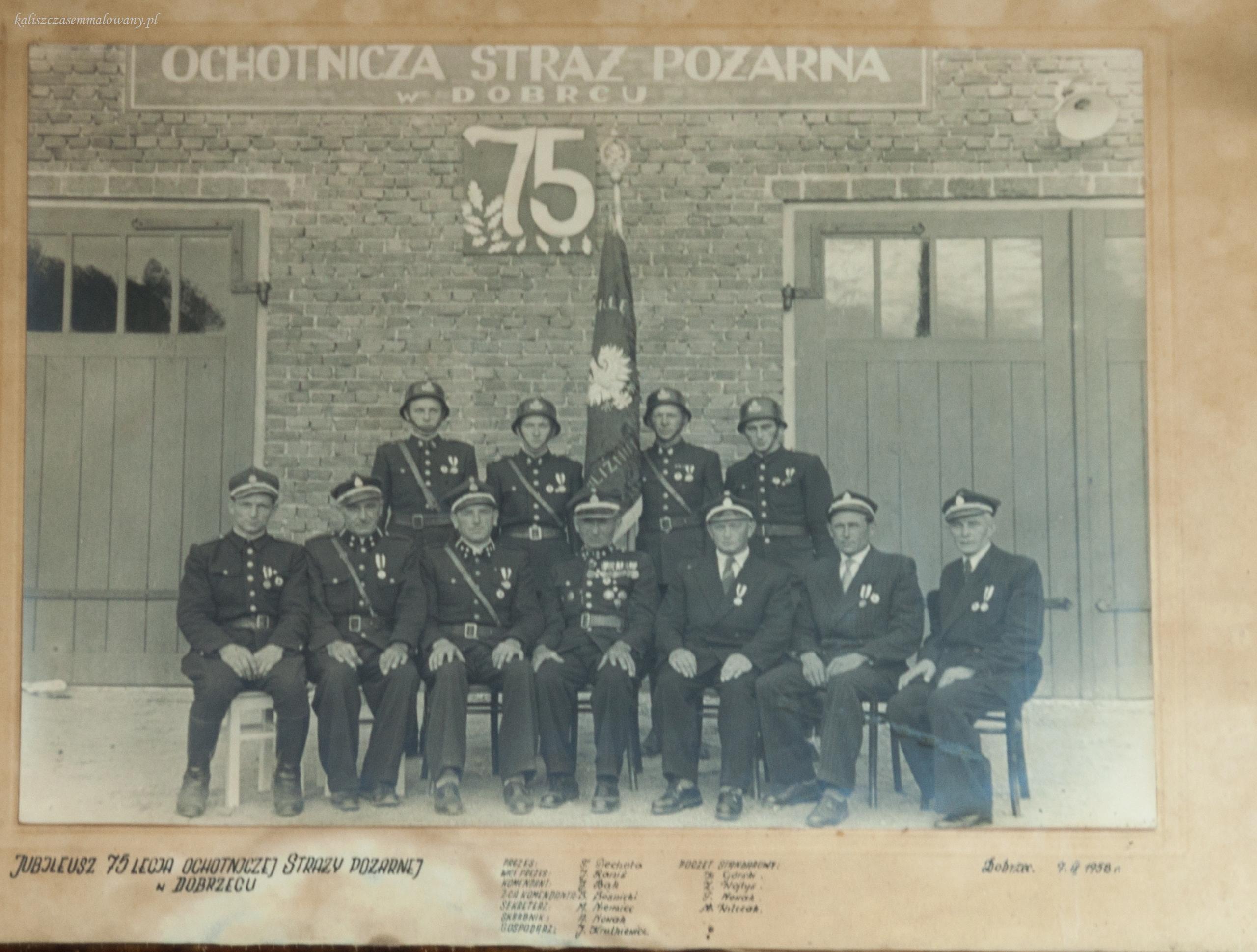 11-75 lat OSP w Dobrzecu 1958